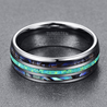 Load image into Gallery viewer, OPAL AND ABALONE TUNGSTEN CARBIDE RING