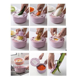 15 in 1 Vegetable Cutter Shredder Kitchen Multipurpose Grater