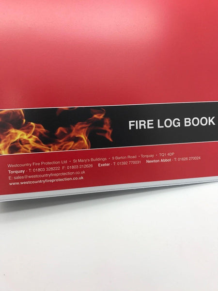 Fire Safety Log Book Professional quality Presentation **Price Inc Vat**