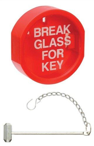Guardian Fire 103595 Plastic Front Keybox/Hammer - Red