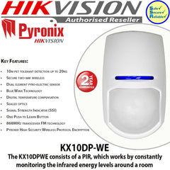 Pyronix KX10DP-WE Wireless Pet PIR Motion Detector 10m Range