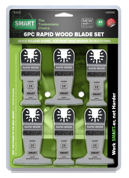 Smart H6RWK Trade 6 Piece Rapid Wood Blade Kit