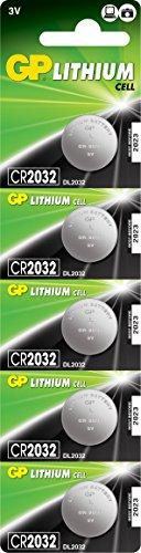 GP Battery Lithium button cell CR2032 5 Series Blister