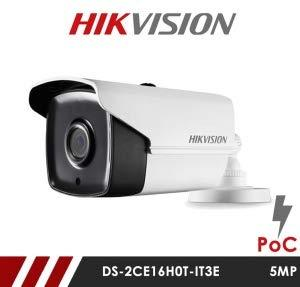 Hikvision 5MP DS-2CE16H0T-IT3E 3.6mm Fixed Lens HD-TVI Bullet CCTV Camera with POC - White