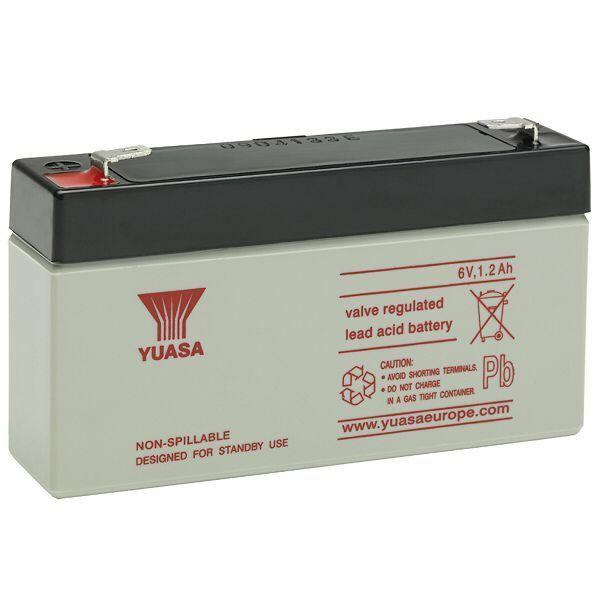 Yuasa 1.2Ah, 6v battery, suitable replacement for Response Alarms HW10 WP1A
