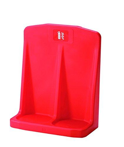 Firechief HS20/RED Double Flat Base Extinguisher Stand, Red