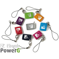 K-303465 Visonic Powermax Mini Fobs Pack of 8 Multi Coloured