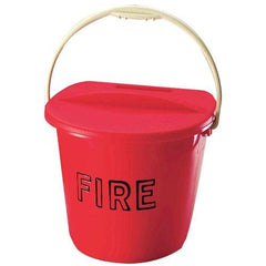 Plastic Fire Bucket & Lid