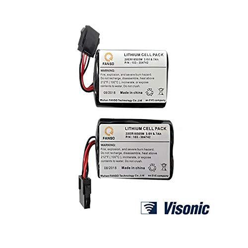Visonic Powermax Battery For MCS-740 Siren Pack of 2 - Free Next Day Delivery in UK