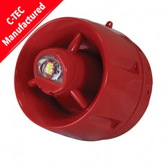 C-Tec ActiV Conventional Hi-Output W-2.75-9 Wall VAD c/w 100dB(A) Sounder (shallow base) (BF433C/CC/SR)