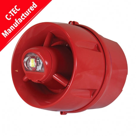C-Tec ActiV Conventional Hi-Output W-2.75-9 Wall VAD c/w 100dB(A) Sounder (deep base) (BF433C/CC/DR)