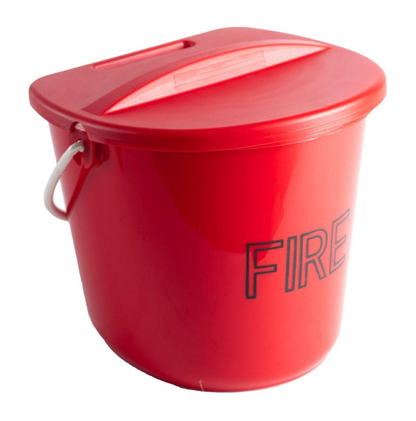 Plastic Fire Bucket and Lid 10 Litre Capacity
