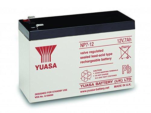 Yuasa - NP7-12 AGM S65-12V 7.0Ah - Sealed Lead Acid Rechargeable Battery