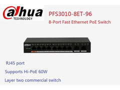 Dahua 8-Port PoE Switch (Unmanaged) (DH-PFS3010-8ET-96)