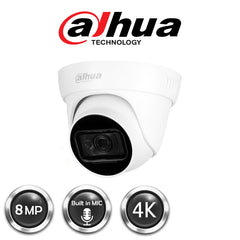 Dahua 4K Real-time HDCVI IR Eyeball Camera (DH-HAC-HDW1800TLP-A-0280B)