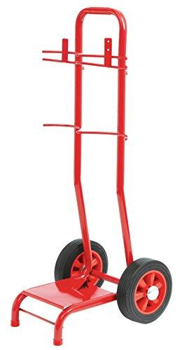 Firechief Svt2B Double Extinguisher Trolley with Bucket Bracket, Red