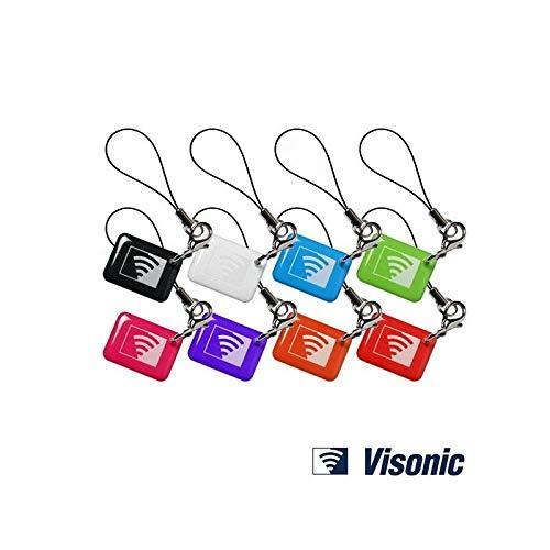 Visonic Prox Tag Pack of 8 Multicoloured Chicklets Proximity Tags - Free Next Day Delivery in UK