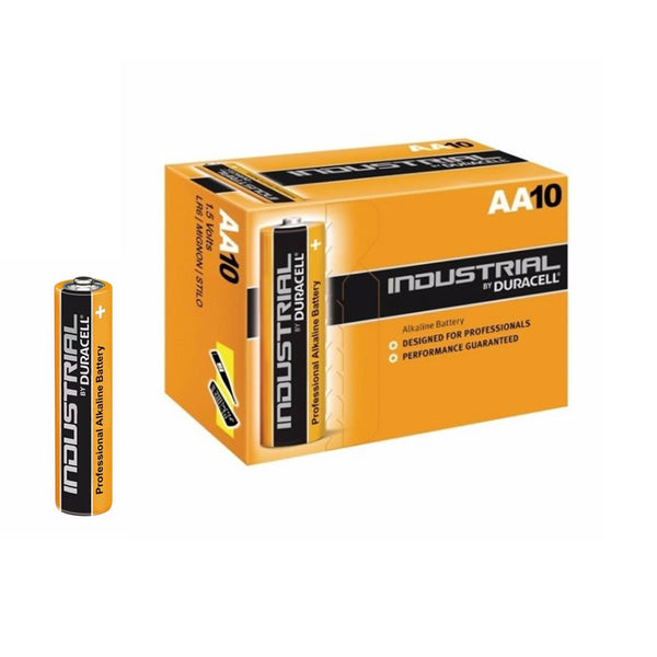 Duracell Industrial 1.5V, AA Size Batteries (Box 10)