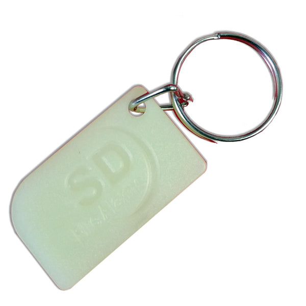 SD Fire Alarms Glow In Dark Key Fob