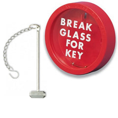 KB1 Glass Emergency Key Box, Hammer And Chain - SD Fire Alarms