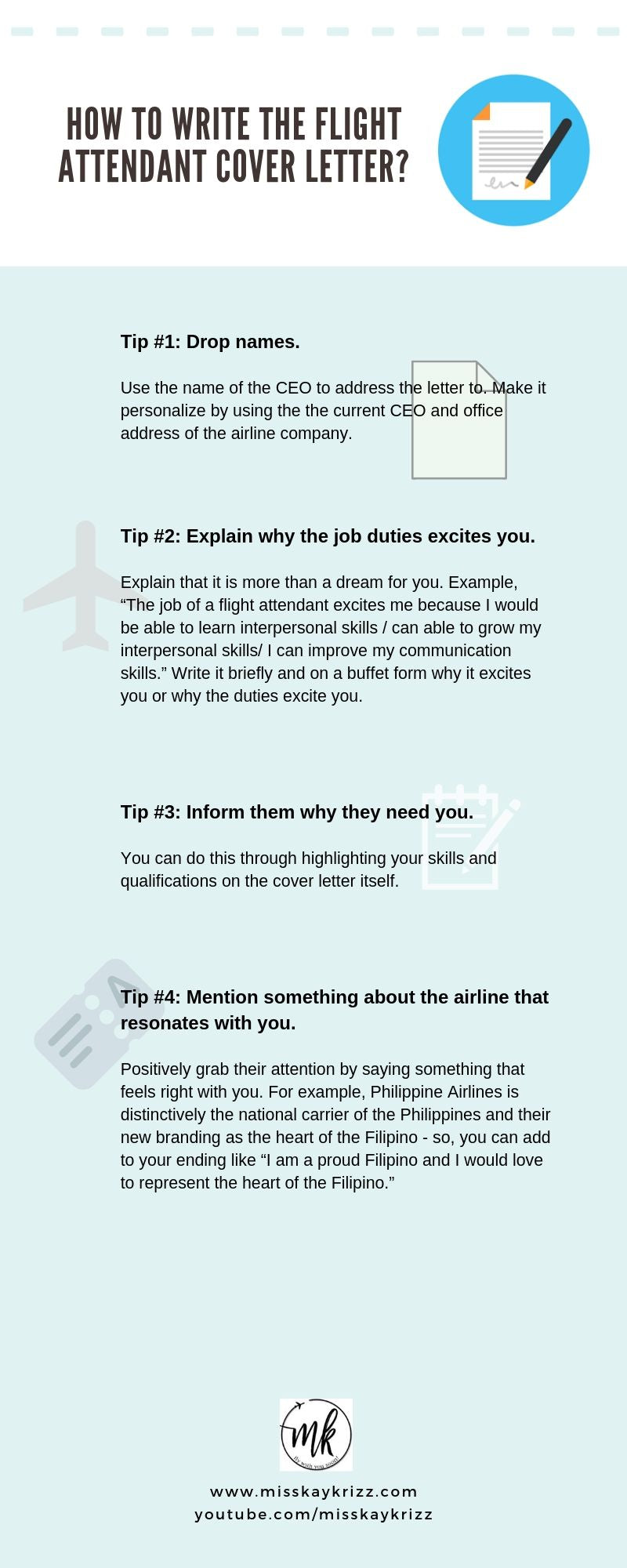 How To Write The Flight Attendant Cover Letter Misskaykrizz