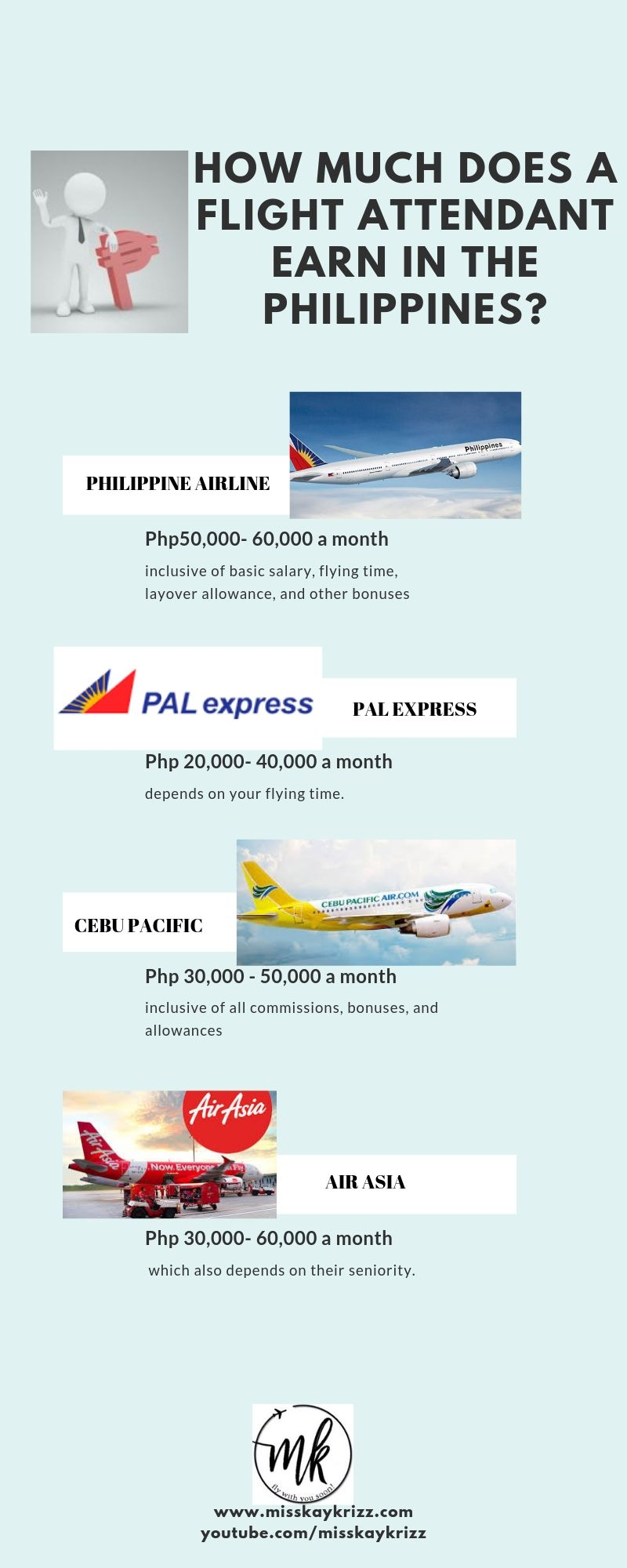 How Much Does A Flight Attendant Earn In The Philippines Misskaykrizz