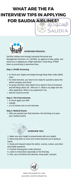 What are the FA Interview Tips in applying for Saudia Airlines?