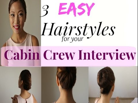What are the Easy Hairstyles for your Cabin Crew Interview?