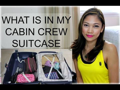 What is in the flight attendant's suitcase?