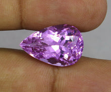 Load image into Gallery viewer, Flawless 19.16 CT Pear Shape Natural Pink Kunzite from Afghanistan.