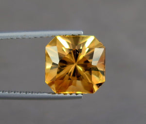 VVS 5.00 Carats Excellent Radiant Cut Orange Topaz from Katlang Mine Pakistan.