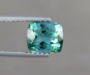 IF 2.0 Carats Natural Paraiba Color Excellent Cushion Shape Tourmaline Gemstone from Afghanistan.