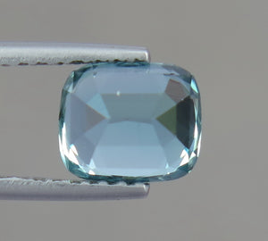 VVS 1.80 Carats Natural Sky Blue Excellent Cut Tourmaline Gemstone from Afghanistan.
