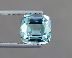 FL 1.65 Carats Natural Sky Blue Excellent Cut Tourmaline Gemstone from Afghanistan.
