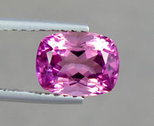Load image into Gallery viewer, Flawless 2.26 Carats Natural Pink Cushion Shape Tourmaline Gemstone from Afghanistan.