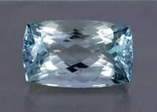 Load image into Gallery viewer, FL 17.5 CT Aqua Blue Color Perfect Cushion Shape Aquamarine from Skardu Pakistan.
