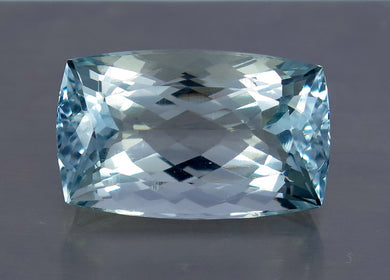 FL 17.5 CT Aqua Blue Color Perfect Cushion Shape Aquamarine from Skardu Pakistan.