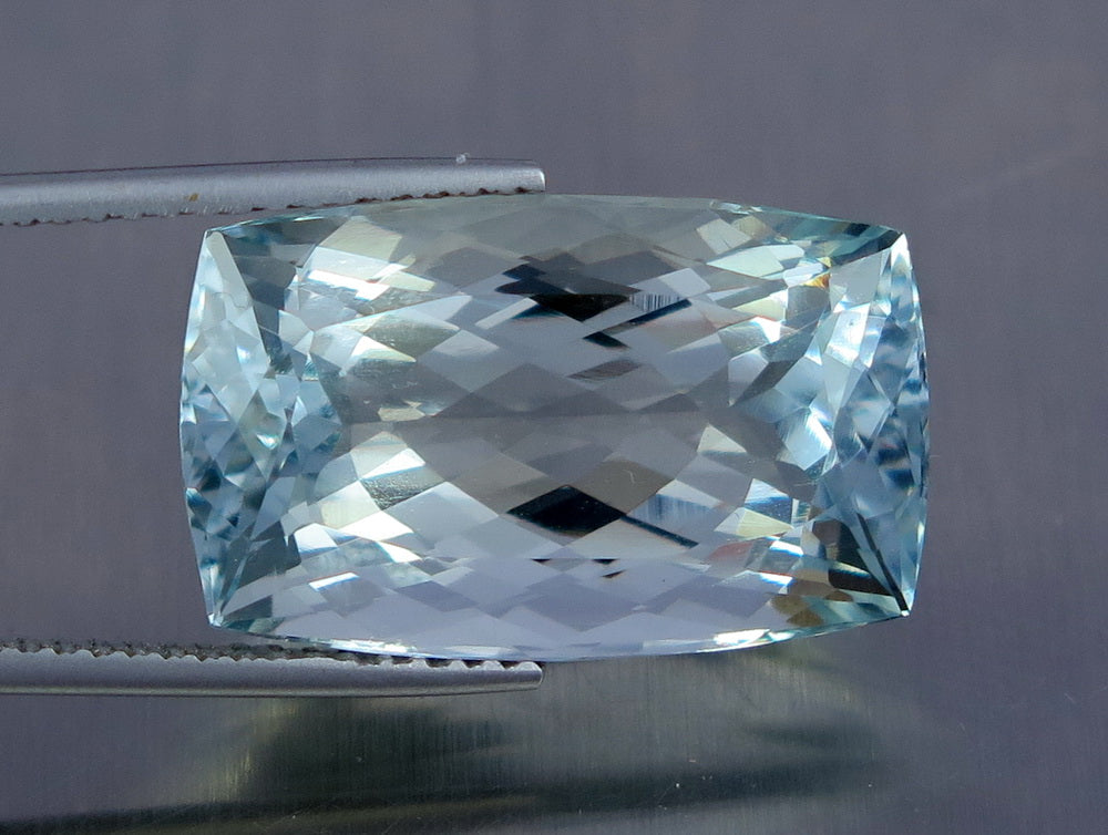 Fl ct aqua blue color perfect cushion shape aquamarine from