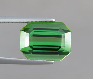 Flawless 4.80 CT Excellent Emerald Cut Natural Beautiful Green Tourmaline Gemstone from Afghanistan.