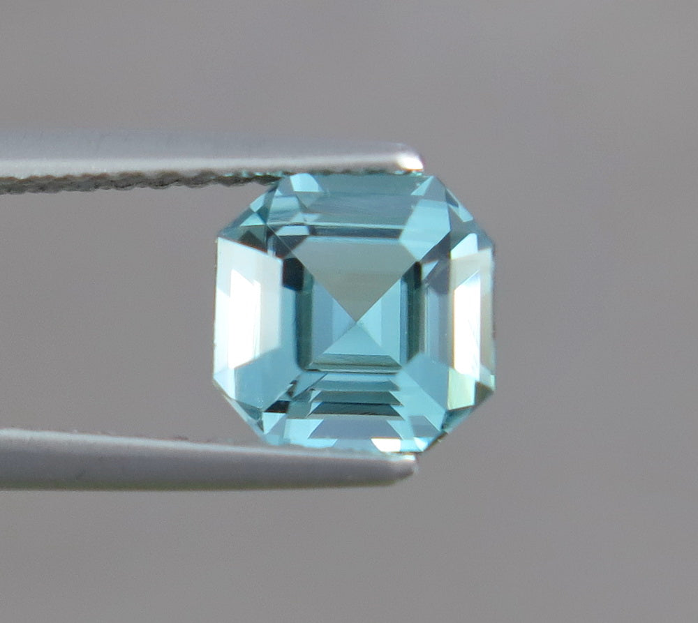 Flawless 1.30 CT Excellent Asscher Cut Top Sky Blue Natural Tourmaline Gemstone from Afghanistan.