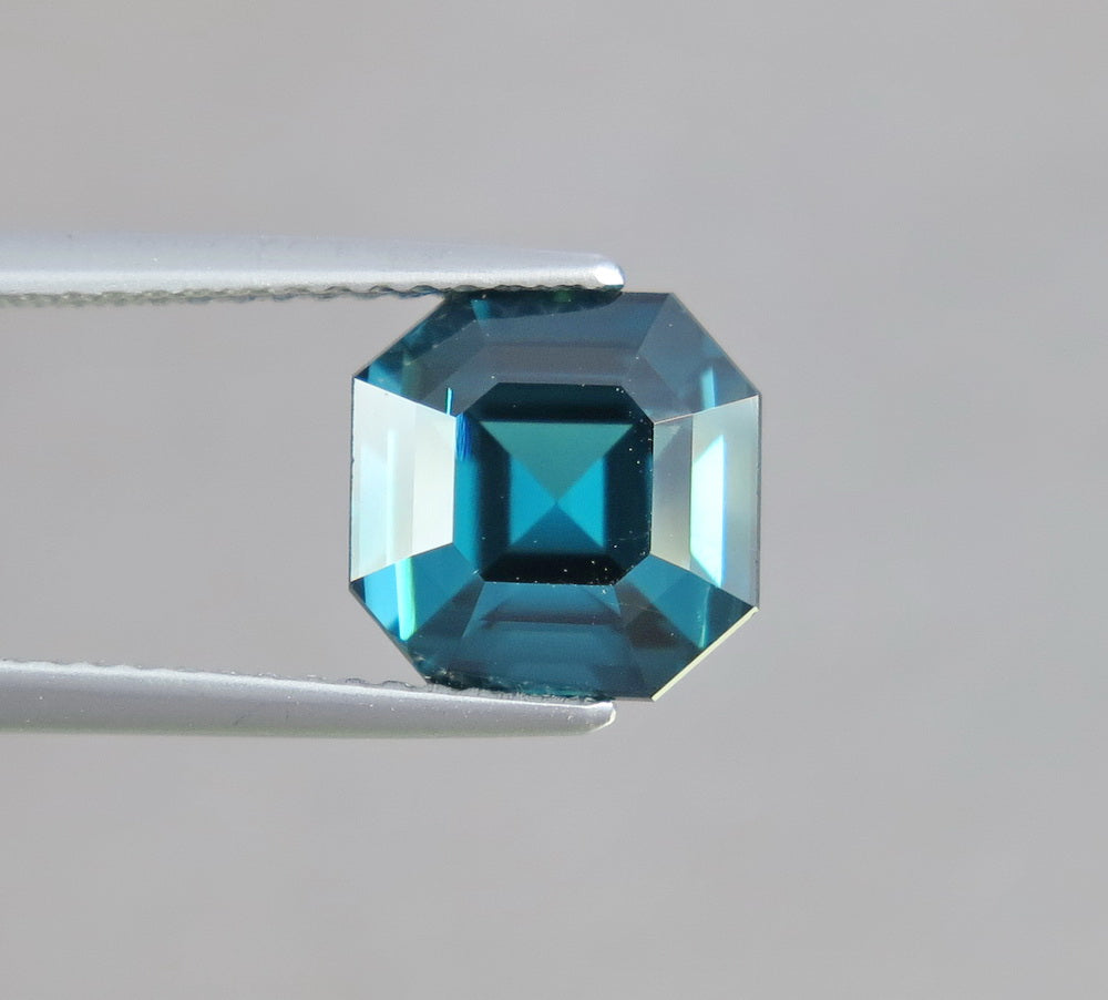 Flawless 3.35 CT Excellent Asscher Shape Natural Blue Indicolite Tourmaline.