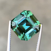 Load image into Gallery viewer, 8.20 CT Excellent Asscher Cut Natural Mint Tourmaline.