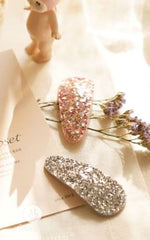 One Glittery Hair Clip - Pink or Silver - jacksplot
