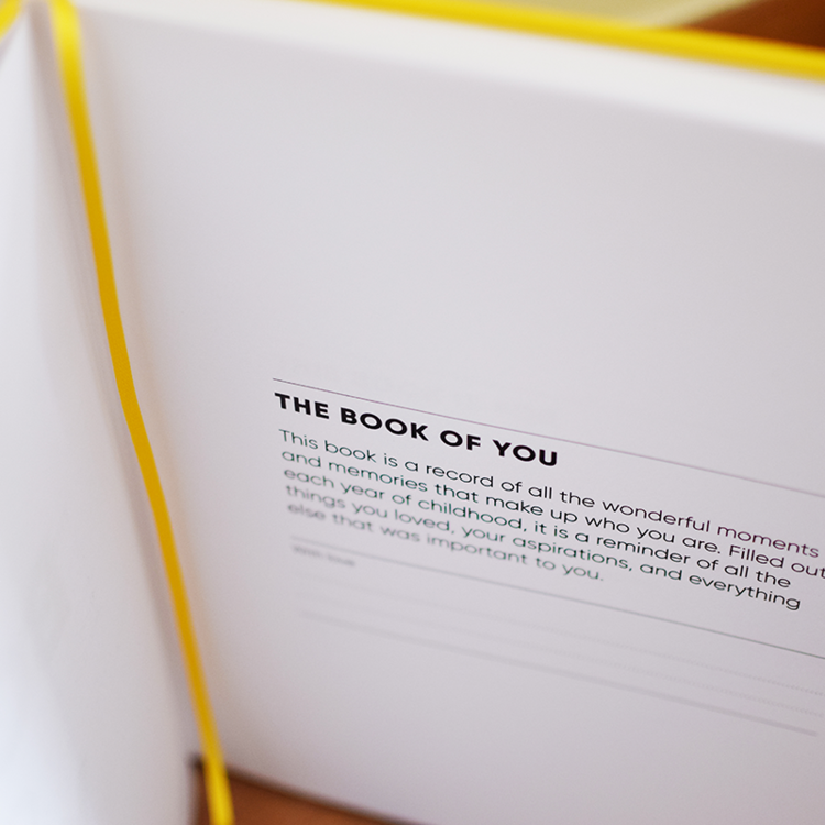 The Book Of You:  A Record of Childhood - jacksplot