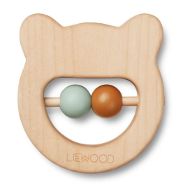Ivalu Wood Teethers - Mr Bear Natural - jacksplot
