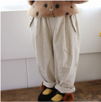Corduroy Baggy Pants - Cream - jacksplot