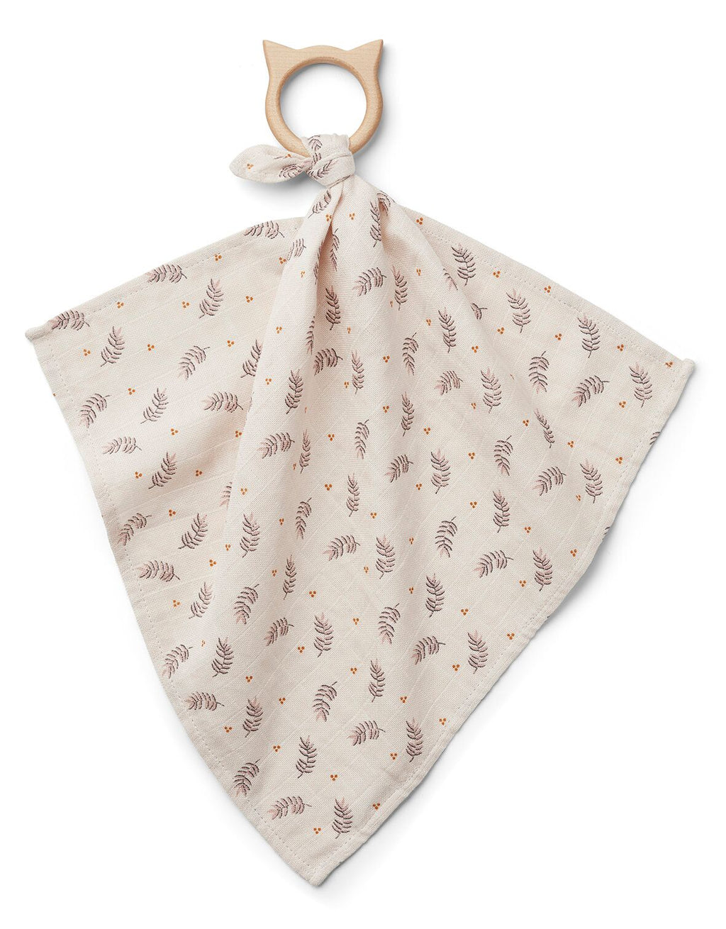 Dines Teether Cuddle Cloth - Fern/rose - jacksplot
