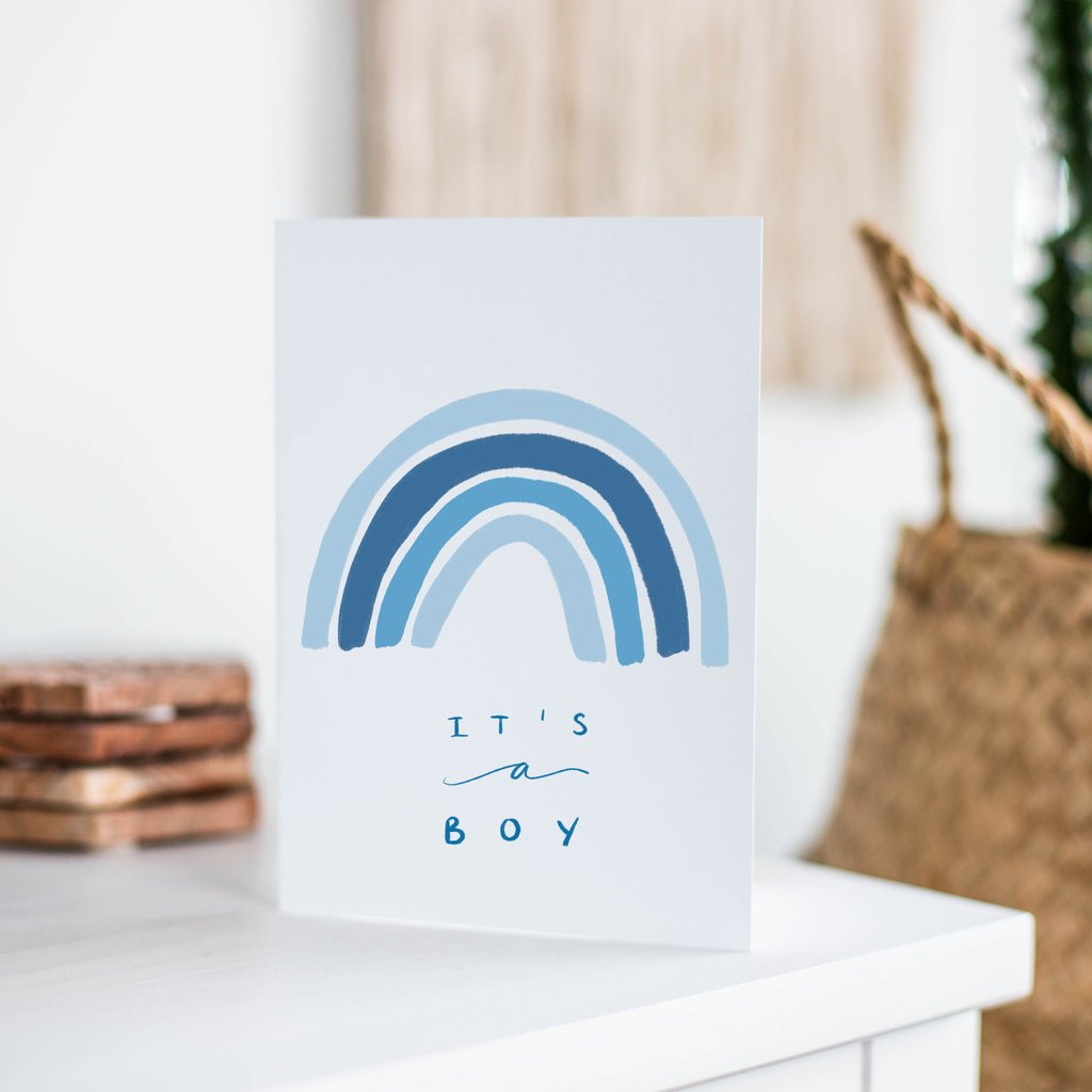 It's a Boy Rainbow Card - jacksplot