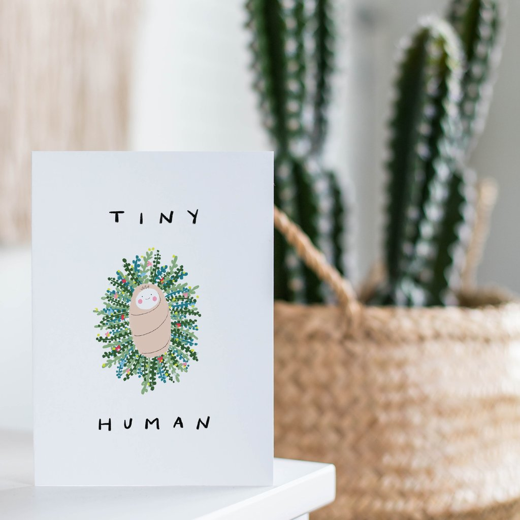 Tiny Human Wreath Card - jacksplot