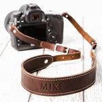 Lange Leather Camera Strap with Monogram